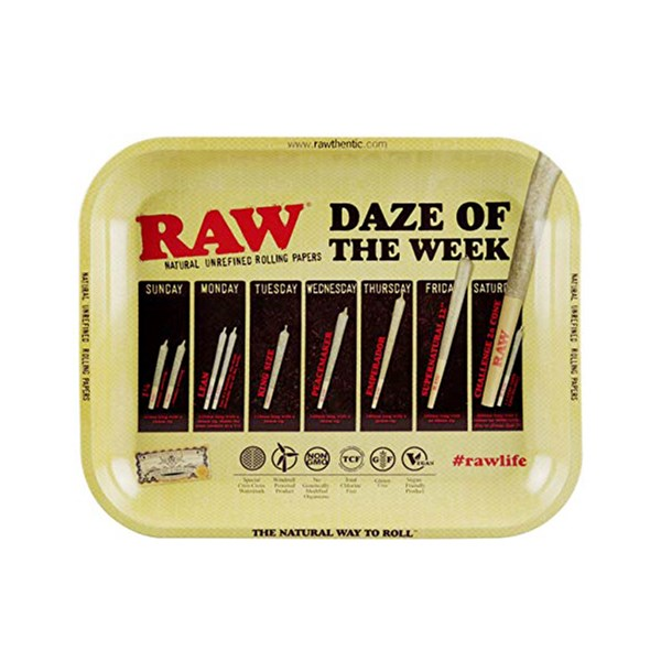 RAW Rolling Tray Metal - Daze of the Week