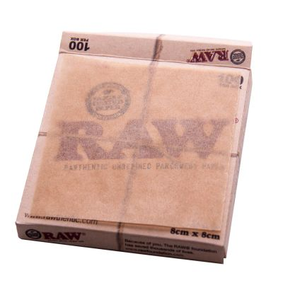 RAW Rolling Papers Unrefined Parchment Papers 3x3'