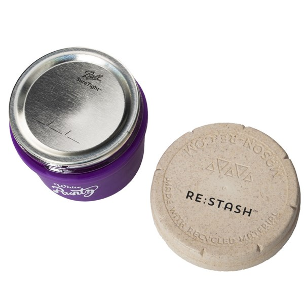 Re:Stash & Runtz Mason Stash Jar - Purple & White (4oz)