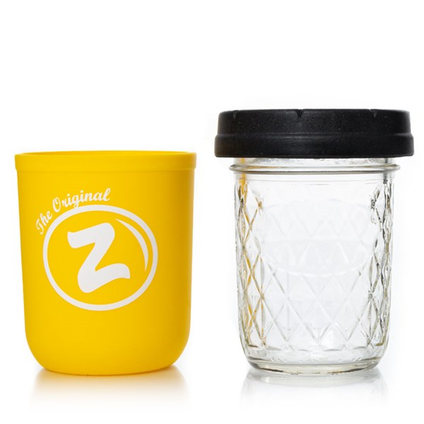 Re:Stash & Zkittlez Mason Stash Jar - Yellow