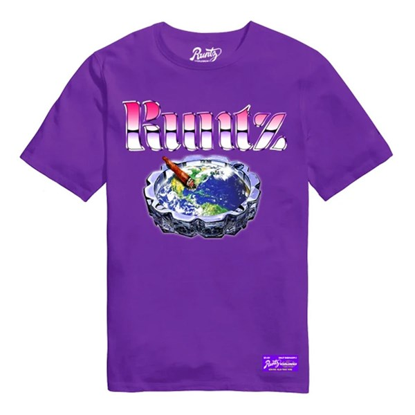 Runtz T-shirt - Globe Tray Purple