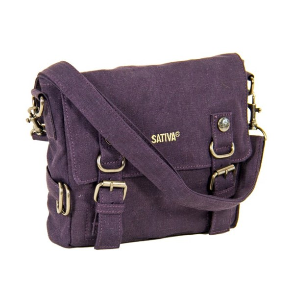 Sativa Hemp Bags Small Shoulder Bag With Buckles