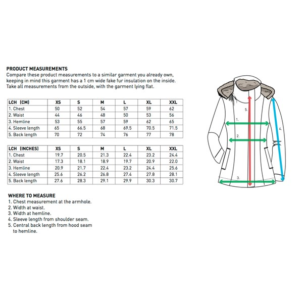 Hoodlamb Ladies' Nordic Light Parka (W17) Grey