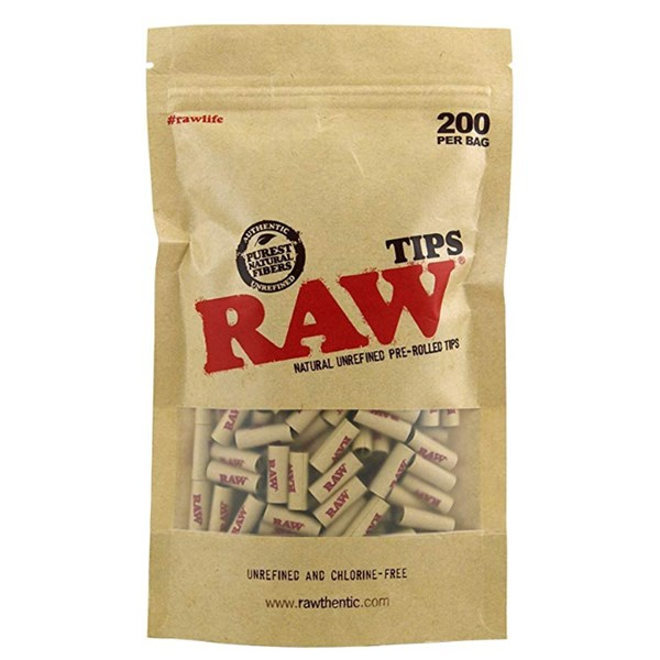 RAW Natural Unrefined Pre-Rolled Filter Roach Tips ( x 200)