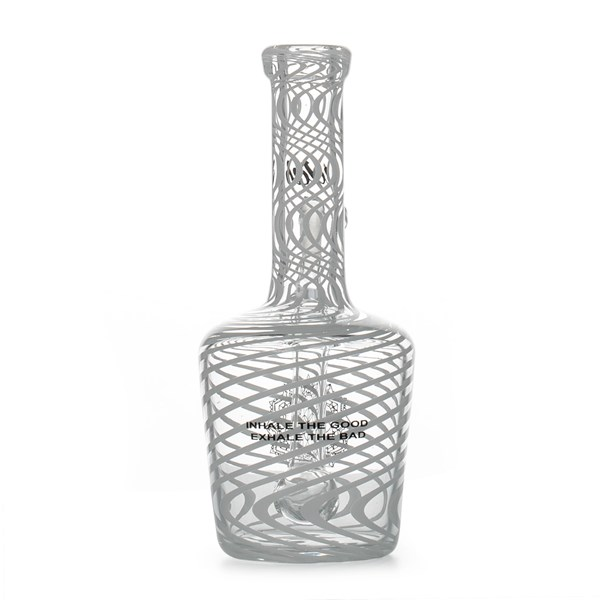 iDab Glass Henny Bottle Dabbing Rig - Small White Stripes