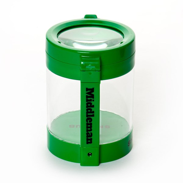 Smokus Focus The Middleman Magnifying LED Storage Jar Container - Sativa Green