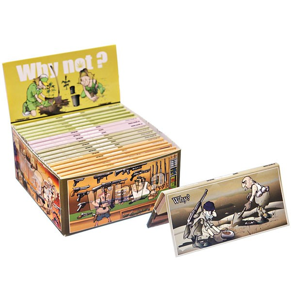 Snail Papers Why/Why Not? Rolling Papers With Tips - War