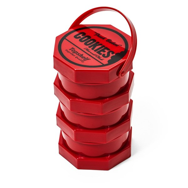Cookies Storage Jar Regular Red