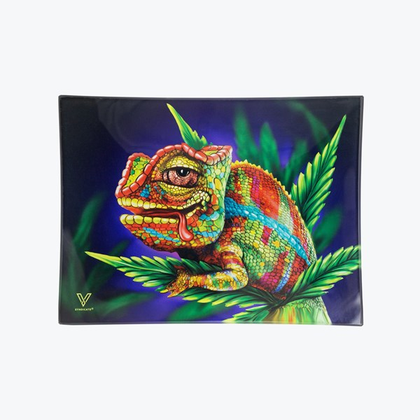 V Syndicate Chameleon Glass Rolling Tray