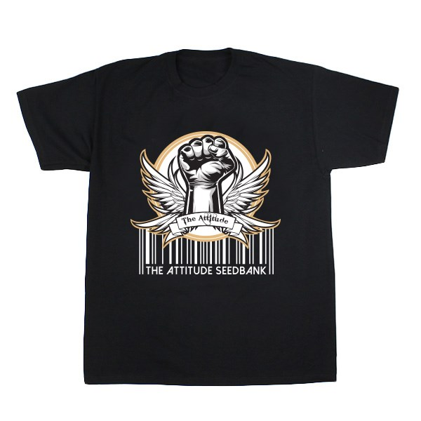 The Attitude Seedbank Barcode T-Shirt - Black