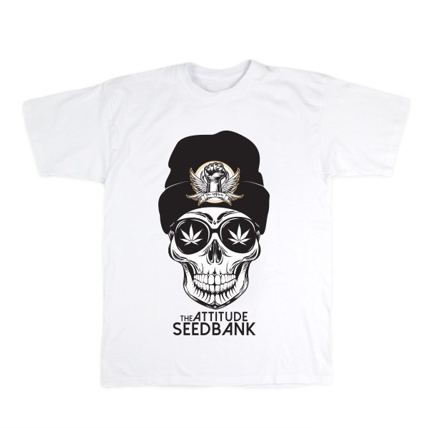 The Attitude Seedbank Skull T-shirt - White