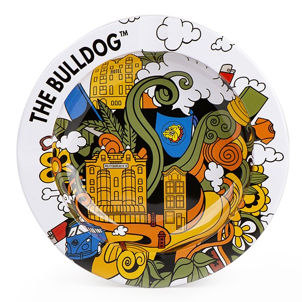 The Bulldog Funky Ashtray, White