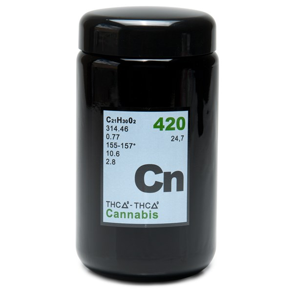 420Science Amber Screw Top Jar - Cannabis Element