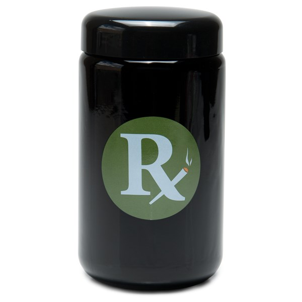 420Science UV Stash Jar - RX Green