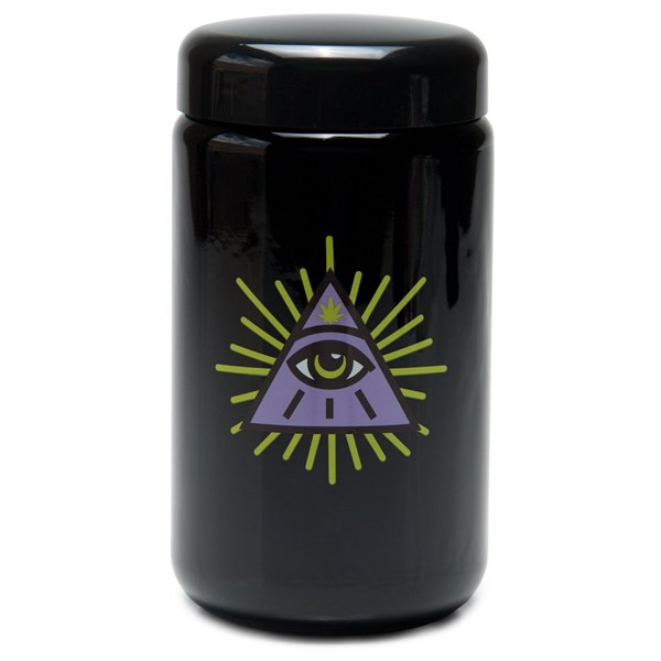 420Science UV Stash Jar - All Seeing Eye
