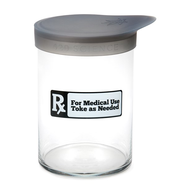 420Science Soft Top Jar - RX Black