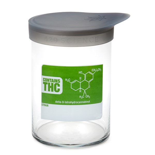 420Science Soft Top Jar - THC Molecule