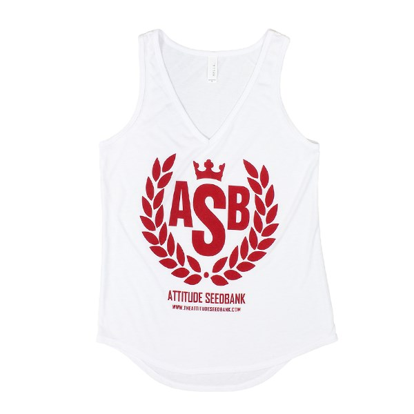 The Attitude Ladies ASB Crown White Vest Top