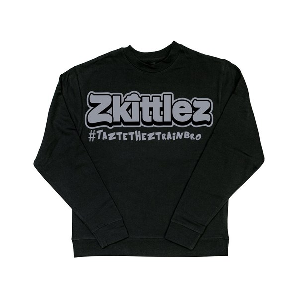 Zkittlez Official Zkittlez Taste The Z Train Crewneck Sweater, Grey